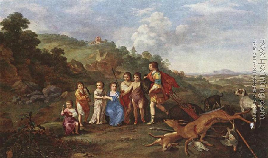 Cornelis Van Poelenburgh : Children Of Frederick V Prince Elector Of Pfalz And King Of Bohemia