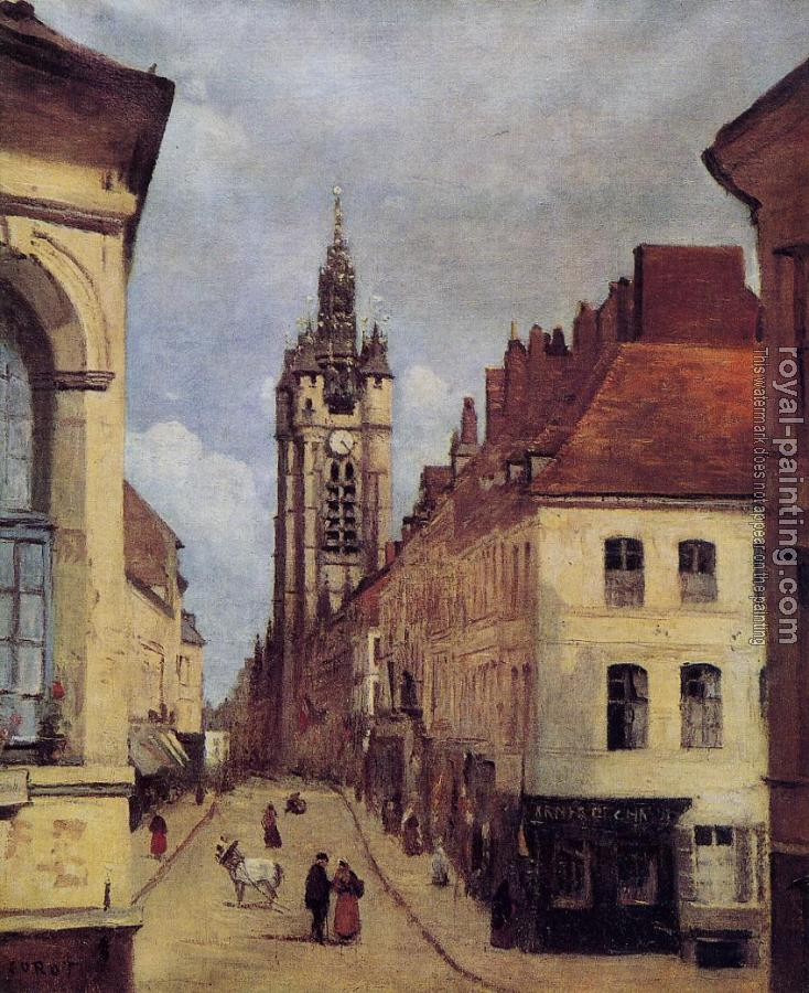 Jean-Baptiste-Camille Corot : The Belfry of Douai