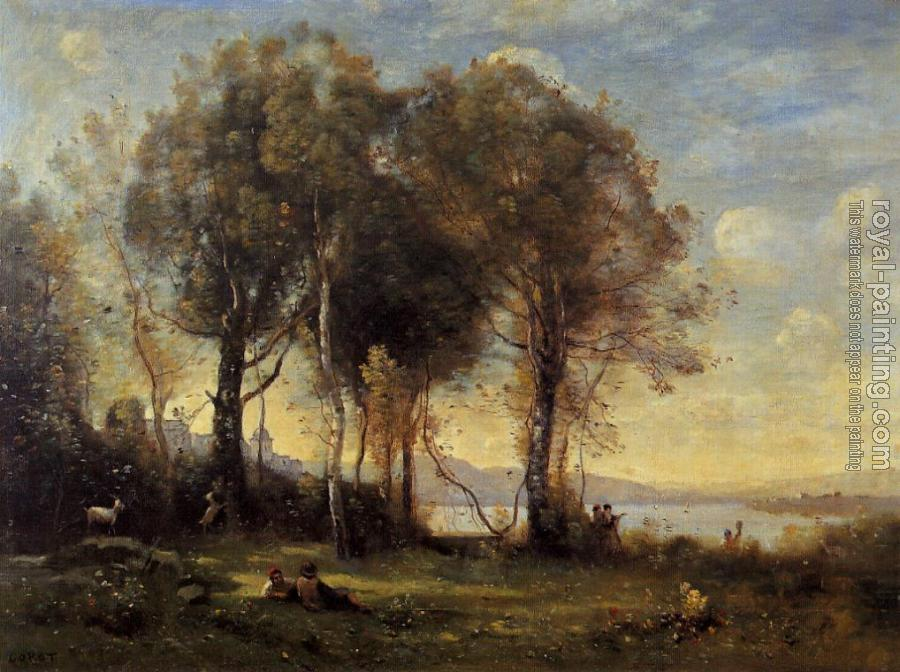 Jean-Baptiste-Camille Corot : Goatherds on the Borromean Islands