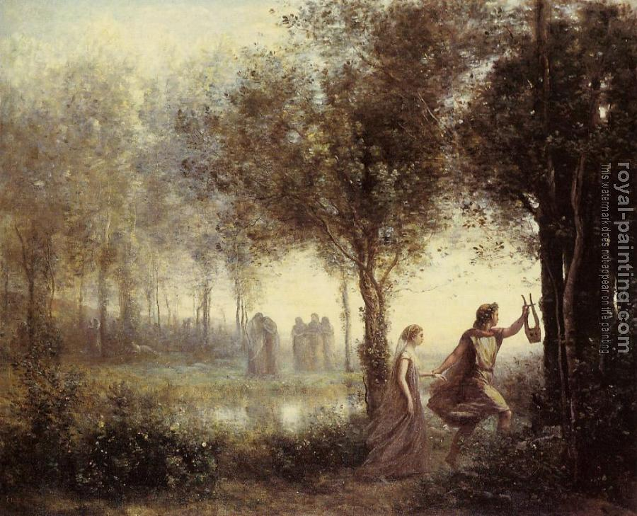 Jean-Baptiste-Camille Corot : Orpheus Leading Eurydice from the Underworld