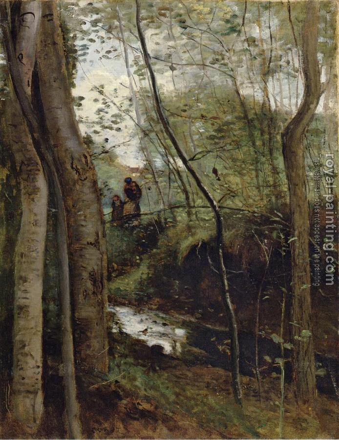 Jean-Baptiste-Camille Corot : Un ruisseau sous bois (Stream in the Woods)