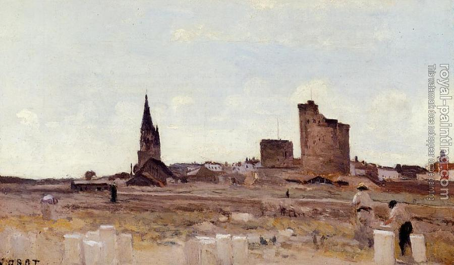 Jean-Baptiste-Camille Corot : La Rochelle, Quarry near the Port Entrance