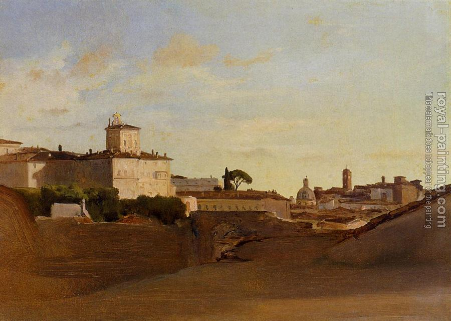 Jean-Baptiste-Camille Corot : View of Pincio, Italy