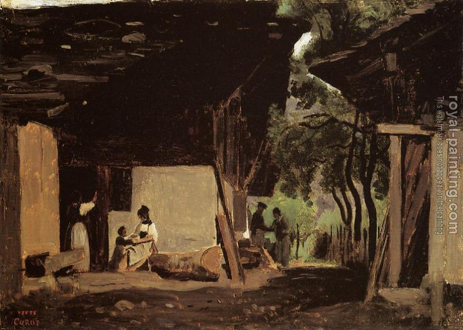 Jean-Baptiste-Camille Corot : Entrance to a Chalet in the Bernese Oberland