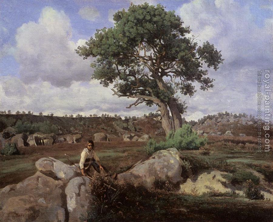 Jean-Baptiste-Camille Corot : Fontainebleau, 'The Raging One'
