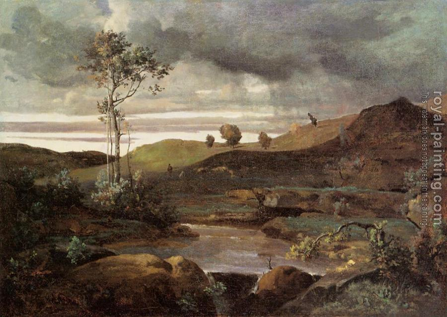 Jean-Baptiste-Camille Corot : The Roman Campagna in Winter