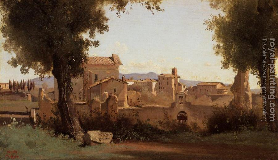 Jean-Baptiste-Camille Corot : Rome, View from the Farnese Gardens, Morning