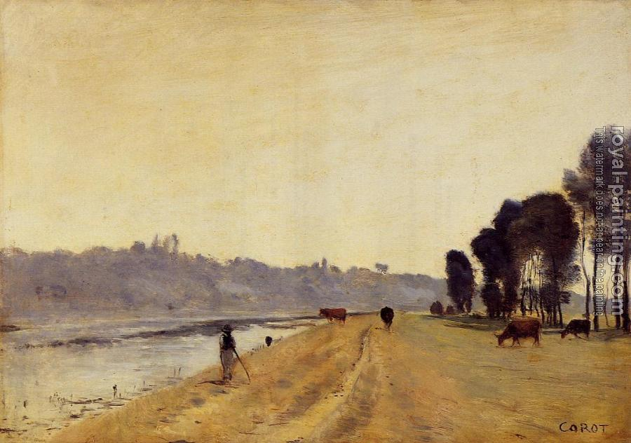 Jean-Baptiste-Camille Corot : Banks of a River