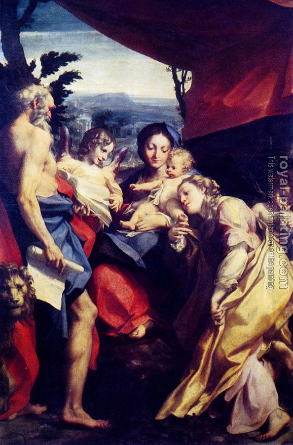 Correggio : Madonna with St. Jerome (The Day)