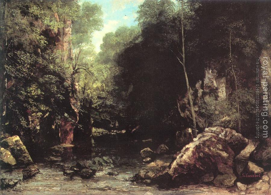 Gustave Courbet : The Shaded Stream (The Stream of the Puits Noir)