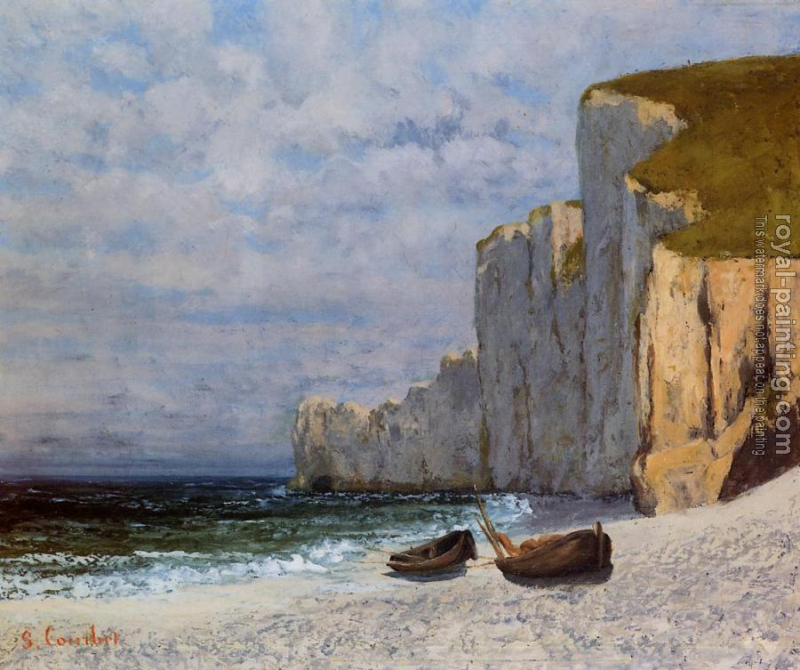 Gustave Courbet : A Bay with Cliffs