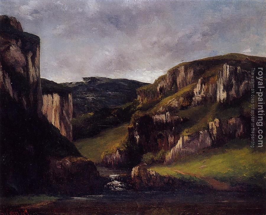 Gustave Courbet : Cliffs near Ornans