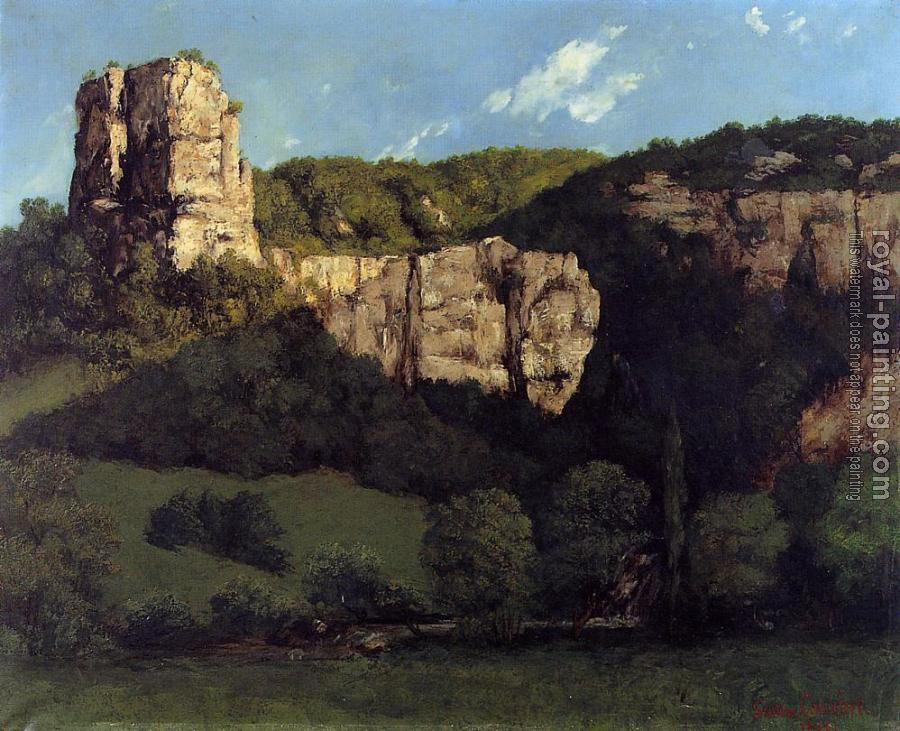 Gustave Courbet : Landscape: Bald Rock in the Valley of Ornans