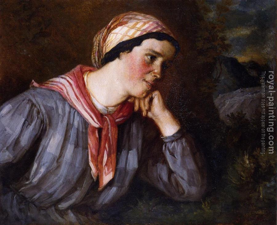 Gustave Courbet : Peasant Wearing Madras