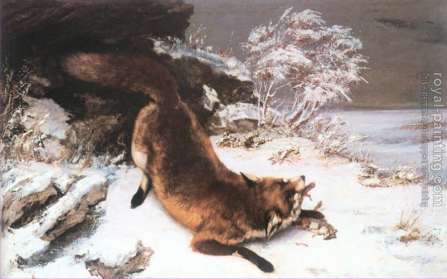 Gustave Courbet : The Fox in the Snow