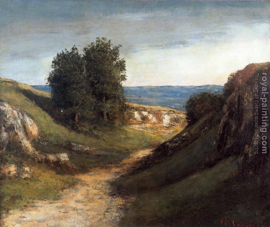 Gustave Courbet : Paysage Guyere