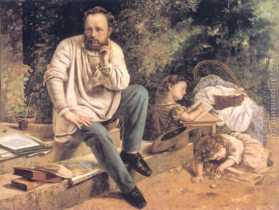 Gustave Courbet : Portrait of P.J. Proudhon in 1853