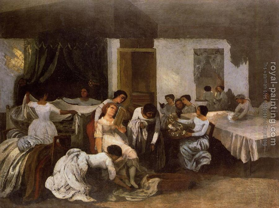 Gustave Courbet : Dressing the Dead Girl (Dressing the Bride)