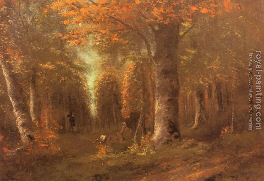 Gustave Courbet : La Foret En Automne (Forest in Autumn)