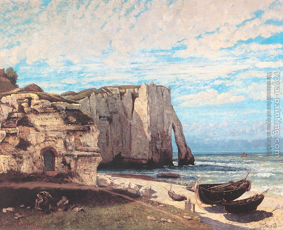 Gustave Courbet : The Cliffs at Etretat