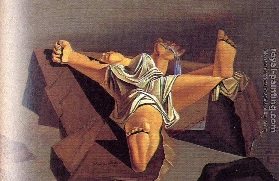 Salvador Dali : Figure on the Rocks(Sleeping Woman)