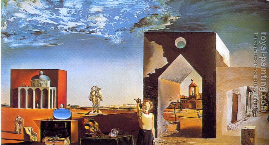 Salvador Dali : Suburbs of a Paranoiac-Critical Town, Afternoon on the Outskirts of European History oil on Panel