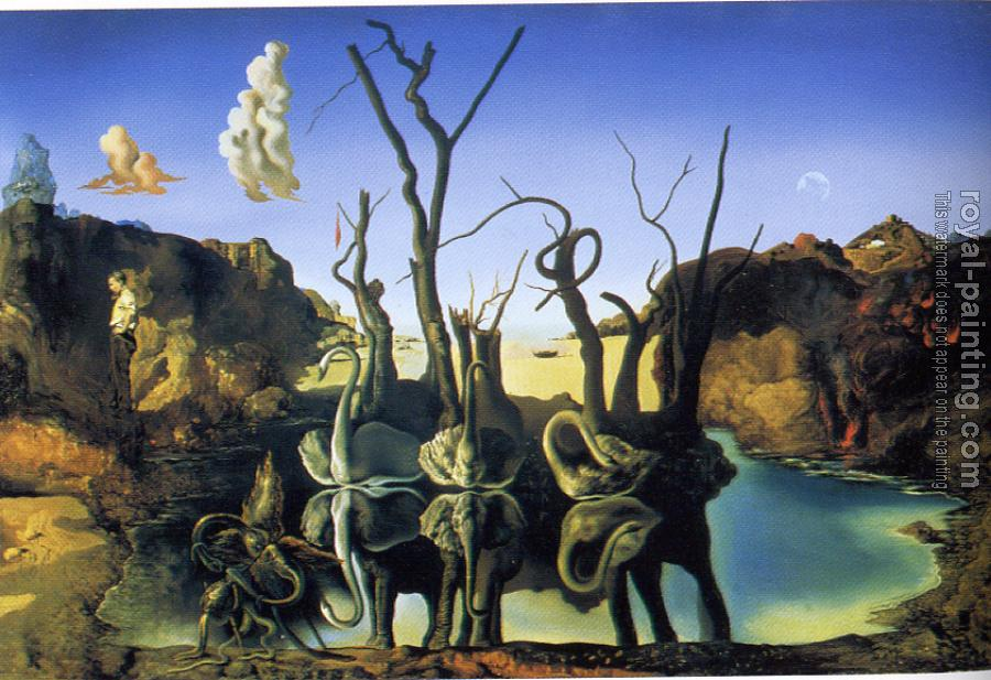 Salvador Dali : Swans Reflecting Elephants
