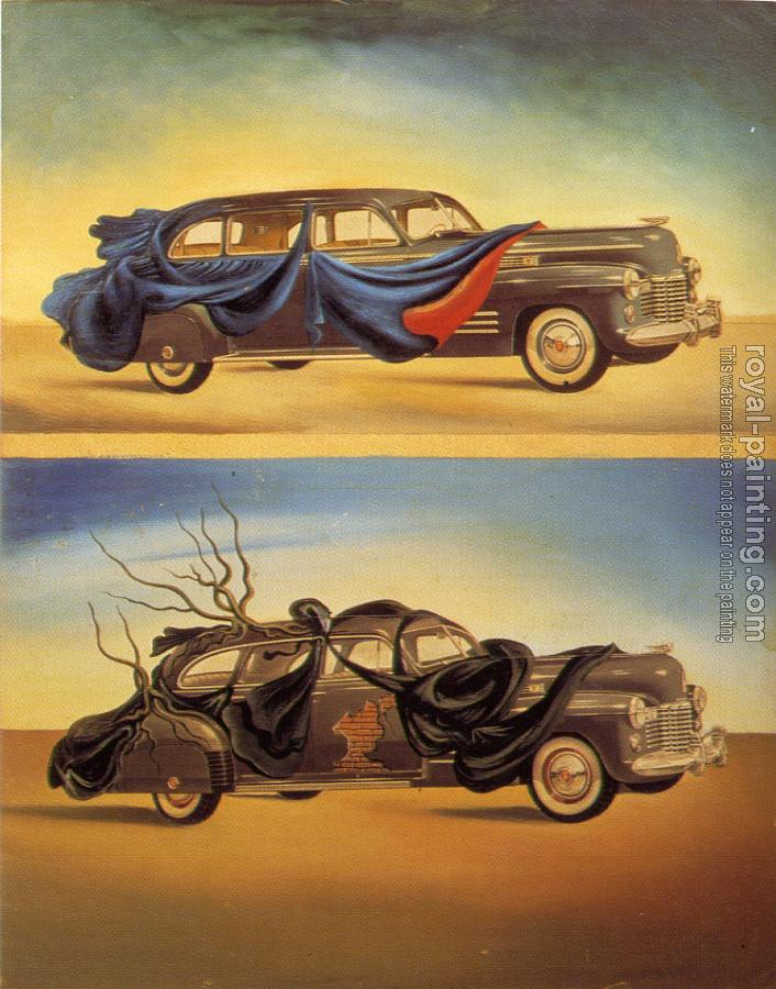 Salvador Dali : Clothed Autobile (Two Cadillacs)