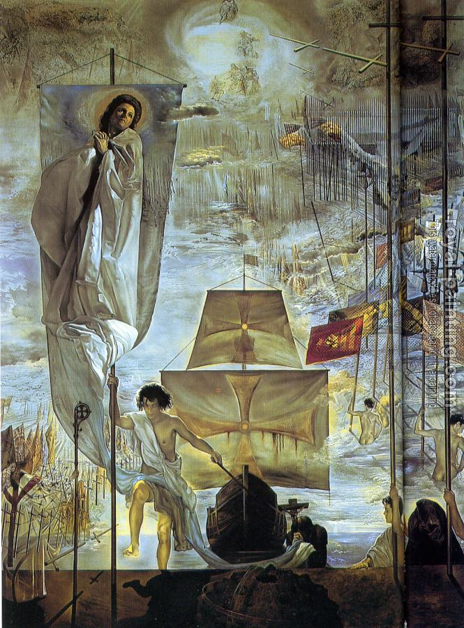 Salvador Dali : The Discovery of America by Christopher Columbus