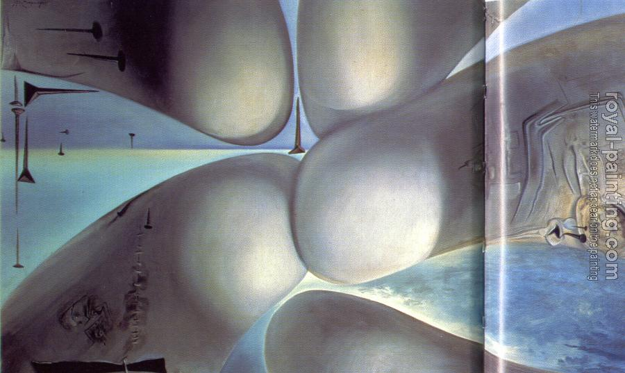 Salvador Dali : Continuum of the Four Bottocks(Five Rhinoceros Horns Making a Virgin, Birth of a Deity)