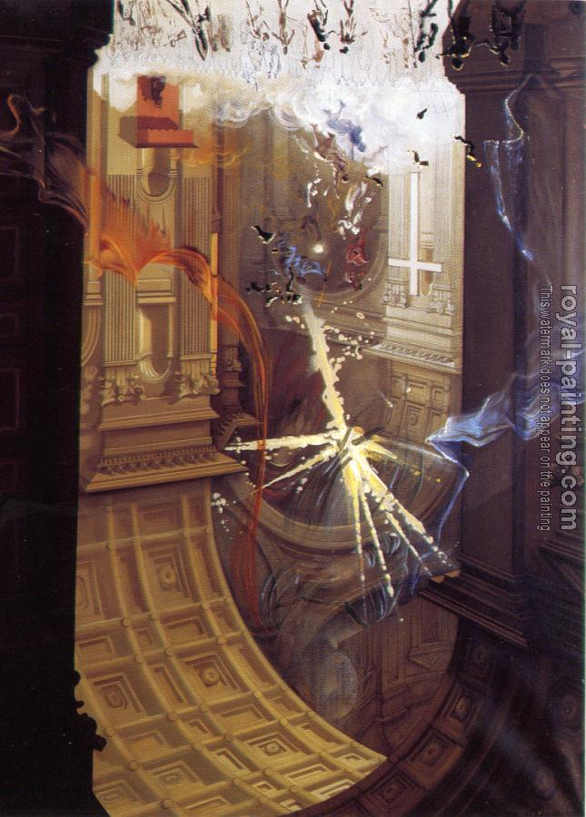 Salvador Dali : St. Peter's in Rome (Explosion of Mystical Faith in the Midst of a Cathedral)