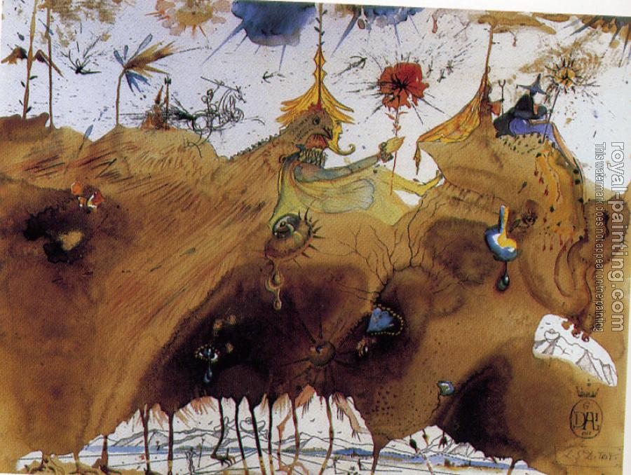 Salvador Dali : The Mountains of Cape Creus on the March(LSD Trip)
