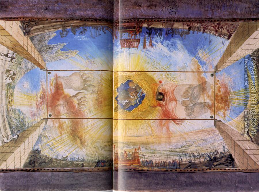 Salvador Dali : Sketch for a ceiling of the Teatro Museo Dali