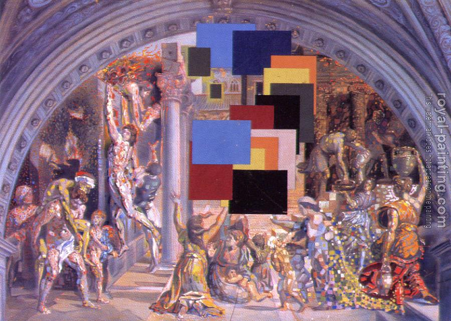 Salvador Dali : Athens Is Burning, The School of Athens and the Fire in the Borgo