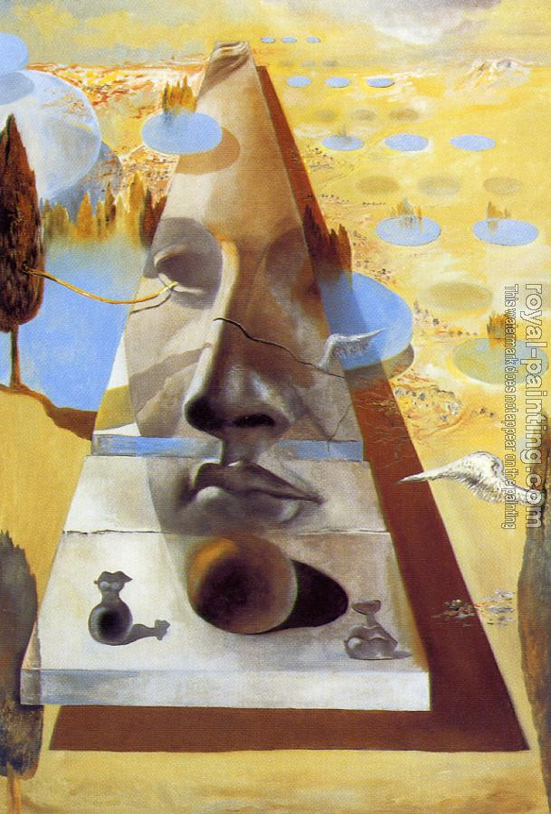 Salvador Dali : Apparition of the Visage of Aphrodite of Cnidos in a Landscape