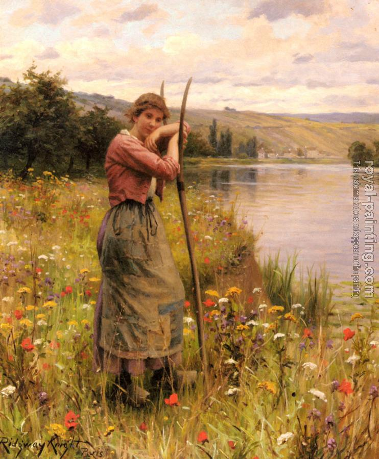 Daniel Ridgway Knight : A Moment Of Rest