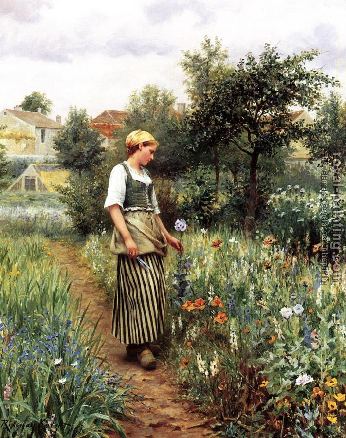 Daniel Ridgway Knight : In the Garden