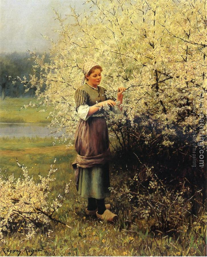 Daniel Ridgway Knight : Spring Blossoms