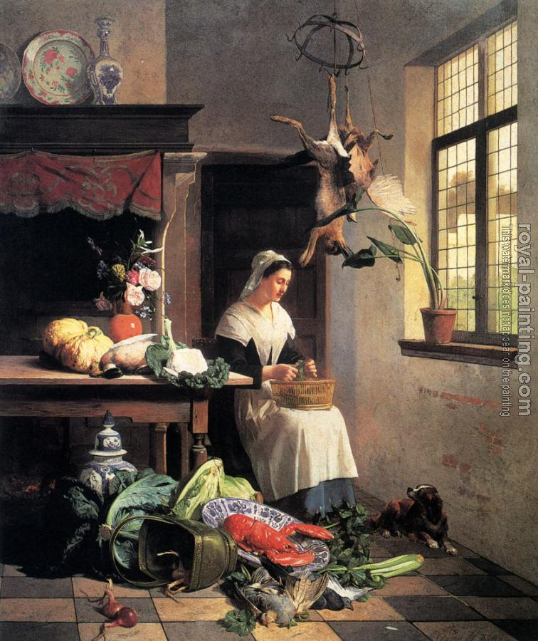 David Emile Joseph De Noter : A Maid In The Kitchen