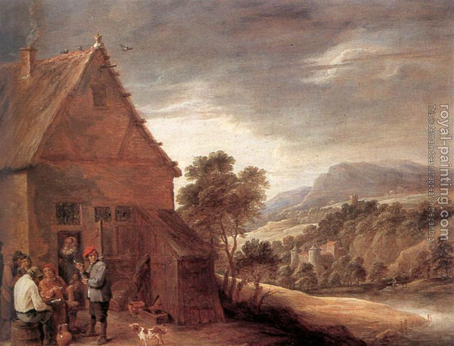 David Teniers The Younger : Before The Inn