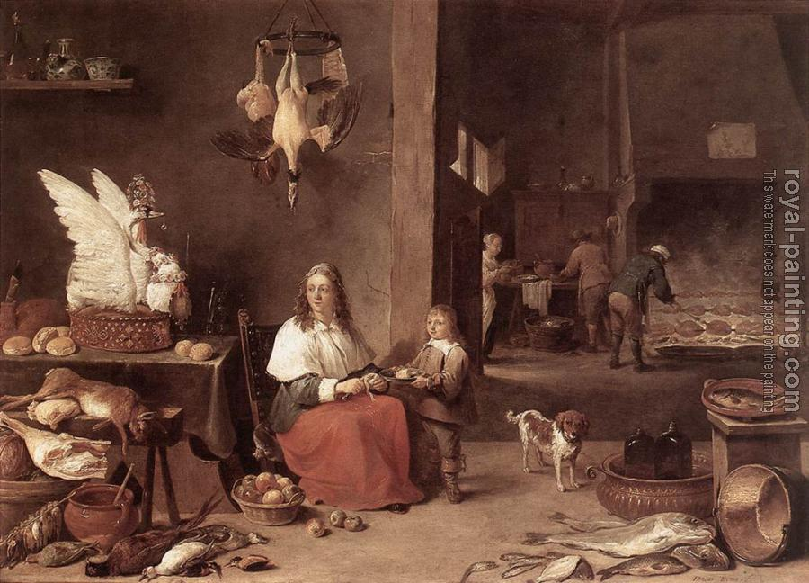 David Teniers The Younger : Kitchen Scene