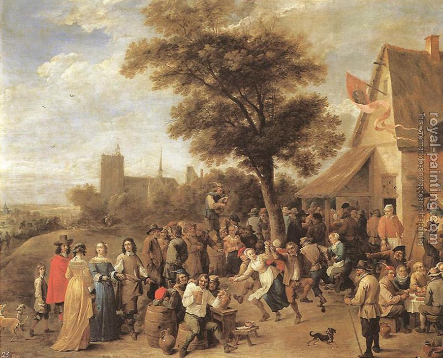 David Teniers The Younger : Peasants Merry making