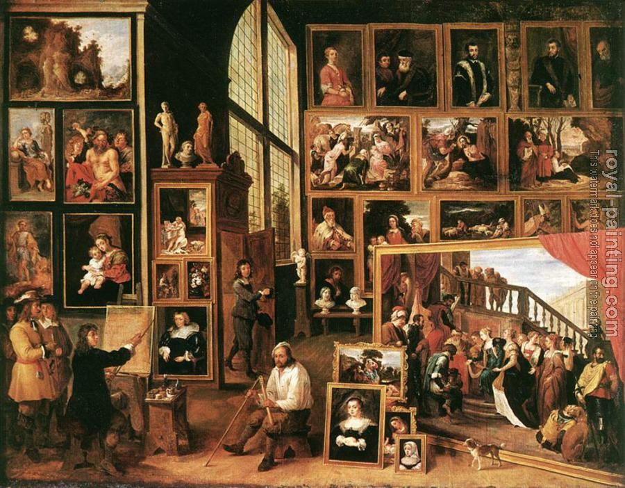 David Teniers The Younger : The Gallery Of Archduke Leopold In Brussels