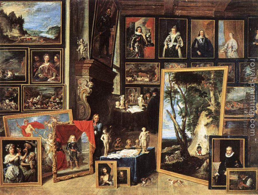 David Teniers The Younger : The Gallery Of Archduke Leopold In Brussels III