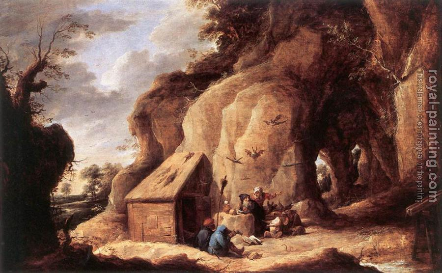 David Teniers The Younger : The Temptation Of St Anthony