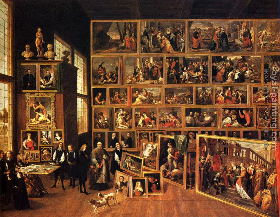 David Teniers The Younger : The Archduke Leopold Wilhelm's Studio