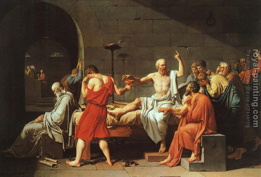 Jacques-Louis David : The Death of Socrates