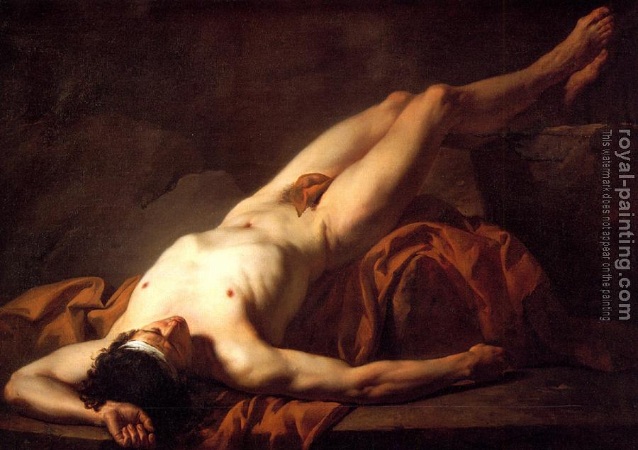Jacques-Louis David : Nude Study of Hector