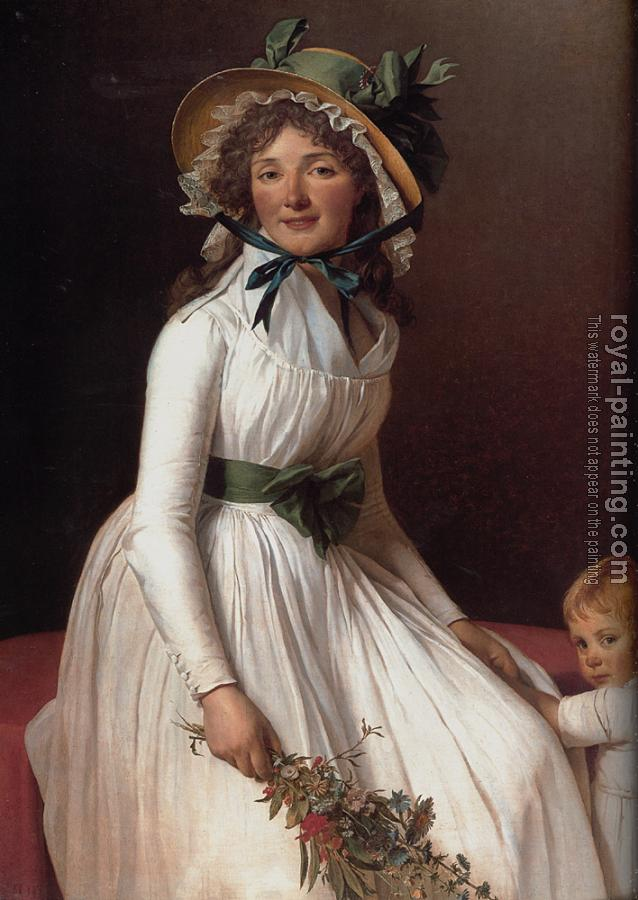 Jacques-Louis David : Portrait of Emilie Seriziat and Her Son