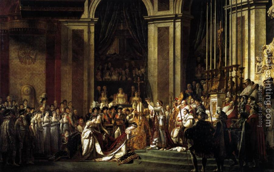 Jacques-Louis David : Consecration of the Emperor Napoleon I and Coronation of the Empress Josephine